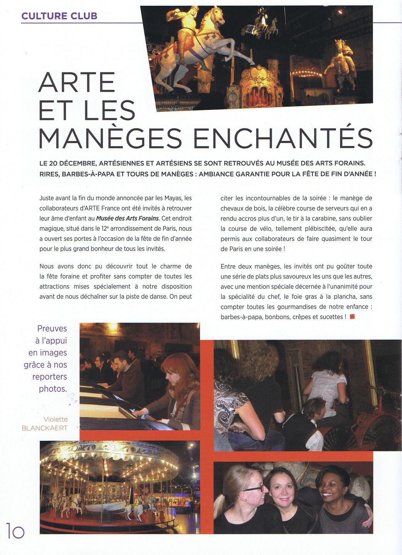 Le compte-rendu de la fête annuelle d'Arte par les collaborateurs de la chaîne