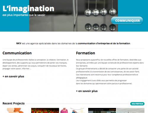 Un site web pour une agence de communication