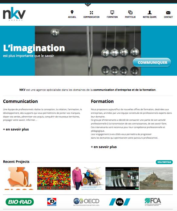 le site web de l'agence NKV