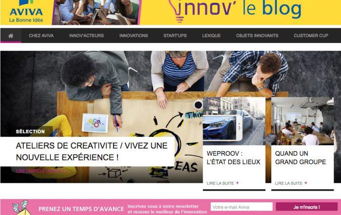 Le site de l'innovation chez Aviva